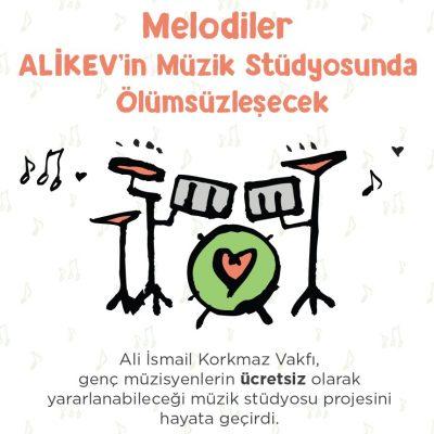 Melodiler ALİKEV'in müzik stüdyosunda ölümsüzleşecek