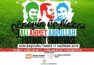 3.Ali Ahmet Abdullah Futbol Turnuvası Başlıyor…